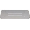 Utility Box Lid, 22 L x 16-1/2 W x 3/4 H in, High-Density Polyethylene, Gray