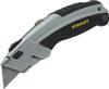 InstantChange®, Utility Knife, Metal, Metal, Gray / Black, 6-1/2 in, Retractable, (3) 11-921 Blades, Interlocking Nose Design, 3 Position