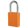 American Lock®, Safety Lockout Padlock, Aluminum, Orange, Keyed Different