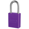 American Lock®, Safety Lockout Padlock, Aluminum, Purple, Keyed Different