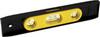 Magnetic Torpedo Level, ABS Plastic, Yellow / Black, 9 in, 6 per Box 36 per Carton, 3, Tinted 360° Vials, 1 Hang Hole
