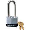 Safety Lockout Padlock, Laminated Steel, Black (Bumper), Keyed Different