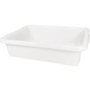 "Rubbermaid Container Bus Box 4.6 Gal Cap White 5"" H x 20"" L x 15"" W"