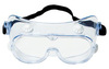 Safety Goggle, Polycarbonate, Clear, Anti-Fog, Frameless