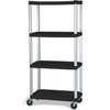 Mobile Shelf Truck, 20 W x 35-1/8 L x 72-1/8 H in, 800 lbs, Steel, 4