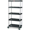 Mobile Shelf Truck, 20 W x 35-1/8 L x 62-3/8 H in, 800 lbs, Steel, 5
