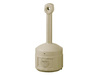 Justrite® 26800 Smokers Cease Fire Cigarette Receptacle Beige