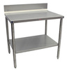 Heat Seal SB-2S3684 Stainless Steel Top Preparation Table, 36 in, 84 in, 34 in