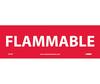 Flammable Sign, Vinyl