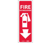 Fire Extinguisher Sign, Vinyl