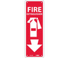 National Marker Company FX122R Fire Extinguisher Sign, Rigid Plastic, 12 in. H X 4 in. W