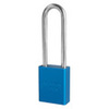American Lock®, Safety Lockout Padlock, Aluminum, Yellow, Keyed Different