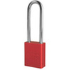 American Lock®, Safety Lockout Padlock, Aluminum, Red, Keyed Alike