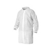 Kleenguard® A10, Lab Coat, Spun Bond Polypropylene, White, Snap, Large