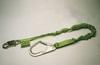 Miller®, Shock Absorbing Lanyard, Polyester Webbing, Green, 6 ft, Locking Snap Hook (Harness), Large Locking Rebar Hook (Anchor), 310 lbs