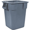 BRUTE® Square Container, 40 gal, Gray