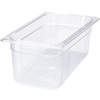 Rubbermaid FG118P00CLR Clear 1/3 Size Cold Food Pan, 6-Inch