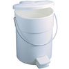 Step-On Container, 4.5 gal, White
