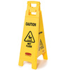 4-Sided Multilingual Floor Sign, Caution Wet Floor, 37-inch