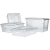 Rubbermaid FG330900CLR Clear Food/Tote Box, 3 1/2-Gallon