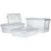 Rubbermaid FG330600CLR Clear Food/Tote Box, 5-Gallon