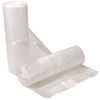 Can Liner, Liner Low-Density Resin, 11 gal, 0.8 mil, Extra Heavy, Star Seal, Clear