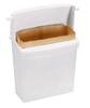 Rubbermaid FG614000WHT White Sanitary Bin