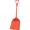 Hygienic Poly Shovel, Red, Polypropylene, Polypropylene