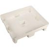 Pallet Base, 37.2 L x 32.7 W x 9.5 H in, High-Density Polyethylene, White