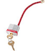Circuit Breaker Safety Lockout Padlock, Steel, Red, Keyed Different