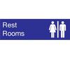 Rest Rooms Sign, Plastic