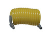 Coilguard®, Air Hose, 1/4 in (ID) 5/16 in (OD), 25 ft, Yellow, Nylon Brass (Fittings)