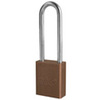 American Lock®, Safety Lockout Padlock, Aluminum, Brown, Keyed Different