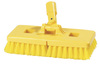 Carlisle 40430 Yellow Swivel Scrub Floor Brush, 9-Inch
