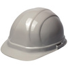 ERB Omega II® 19137 Front Brim Hard Hat, 6-Point, Slide Lock, Gray, 6-1/2 to 8 (Standard) in