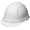 ERB Omega II®, Front Brim Hard Hat, 6-Point, Slide Lock, White, 6-1/2 to 8 (Standard) in