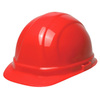 ERB Omega II® 19134 Front Brim Hard Hat, Red, 6 1/2 to 8 in
