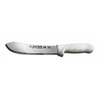 Sani-Safe®, Butcher Knife, High Carbon Steel, Polypropylene, Honed, White, Slip-Resistant, 6 per Box, ETL Sanitation Approved, Stain-Free Blade, Dishwasher Safe, 8 in