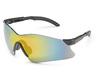 Hawk, Safety Glasses, Polycarbonate, Amber, Scratch-Resistant, Nylon, Framed, Black