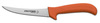 Sani-Safe®, Boning Knife, Semi-Flexible|Curved, High Carbon Steel, Polypropylene, Ergonomic, Polished, Sharped, 5 in, 10 in, Slip-Resistant, Orange Handle, 6 per Box, Re-Sharpenable Blade, 5 in