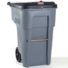 BRUTE®, Recycling Rollout Container, 65 gal, Gray