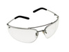 Metaliks, Safety Glasses, Polycarbonate, Clear, Anti-Fog, Metal, Half-Frame, Polished Metal