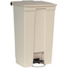 Step-On Container, 23 gal, Beige