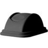 Rubbermaid FG306700 Untouchable® Black Waste Container Lid