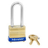 Non-Rekeyable Padlock, Laminated Brass, Keyed Alike