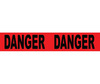Barricade Tape, Message, Black on Red, 3 in, 1000 ft