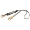 DBI SALA®, Shock Absorbing Lanyard, Webbing, 6 ft, Self Locking Snap Hook