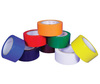 Striped Safety Tape, Vinyl, Striped, White, 2 in, 36 yds