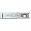 Straight Bar Hasp, Hardened Steel, Gray, 1