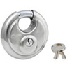 Shrouded Padlock, Stainless Steel, Keyed Different